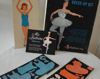 Vintage Miss Ballerina, a Colorforms toy, 1962