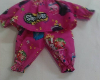 "Baby Alive  And Waldorf Doll Clothes Shopkins Pajamas 10"" 12"" 15"""