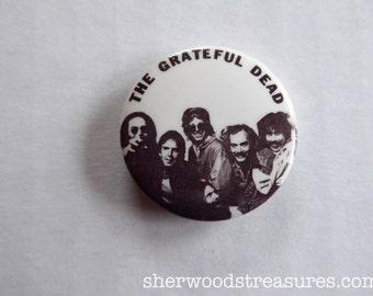 "Grateful Dead  National Tour Pin Button  Original  1980's  1 1/4"" inches Square Excellent  Deadhead"