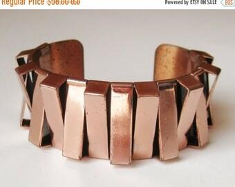 HOLIDAY SALE Vintage 50s Renoir Mid Century Modernist Copper Cuff Bracelet