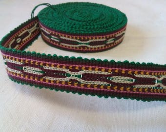 Uzbek handwoven cotton trim Jiyak. Tribal ethnic, boho, hippy trim. TR019