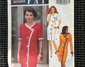 Butterick 5973 Leslie Fay Misses Dress Sewing Pattern Size 12-16 UNCUT