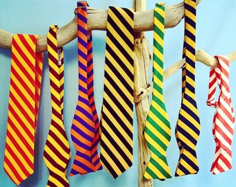 Bold Silky Striped Bow Ties/ Show Your School Spirit, School Colors, Wedding Bow Tie, Wedding Gifts, Groomsmen Gifts, Wedding Accessory