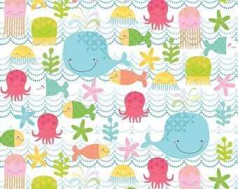 Fishing School in Multi by Alpine Fabrics - 1 Yard