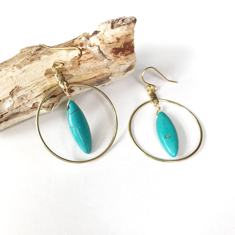 gold hoop earrings turquoise hoops large drop earrings. Black Bedroom Furniture Sets. Home Design Ideas