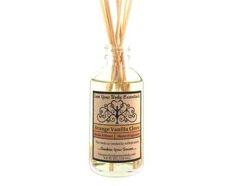 Vanilla orange clove, reed diffuser, vanilla clove, reed refill, reed diffuser oil, vanilla reed diffuser, kitchen diffuser