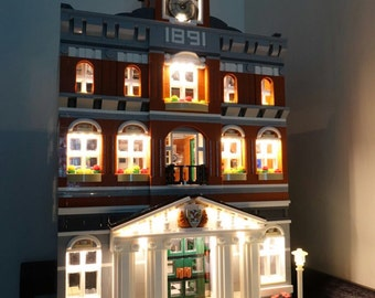 Pre-order - ship in January/February Light up kits for LEGO 10224 - Town Hall Modular  - (Model not included)