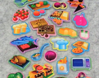 Mixed Cooking Foods Stickers