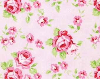 Rambling Rose - Pink Happy Rose by Tanya Whelan for Freespirit Fabrics