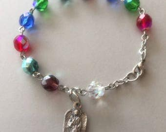 Rosary bracelet with Angel charm