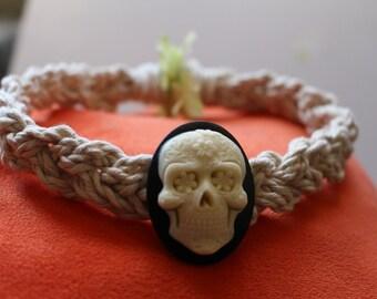 Sugar Skull Braided Choker