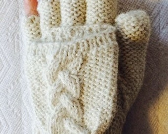 Alpaca Glove/Mittens (GLITTENS) - Winter White