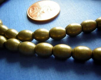 Vintage Solid Brass Trade Beads DESTASH Lot of 62 Oval - CLEARANCE