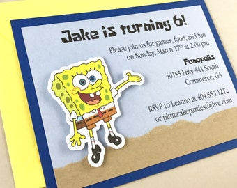 SpongeBob Birthday Party Invitation | Sponge Bob | Boy's Birthday