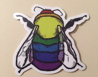 Rainbow Bee Sticker