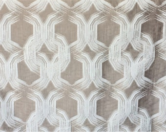Ivory Chains Curtain Fabric By The Yard Upholstery Fabric Wholesale Indian Drapery Fabric Window Treatment Fabric Sofa Fabric Home Decor