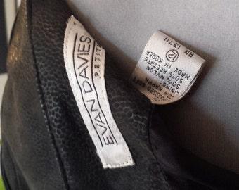 Evan Davies Black Leather Skirt