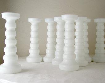 white milk glass vase set of nine mid century wedding decor