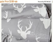 ON SALE Buck Forest Mist print, Hellow Bear Collection, Cotton Fabric, Quilting Weight textile, Art Gallery Designer Cotton