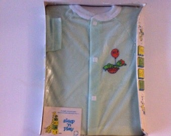 Sleep n Play Vintage Baby Sleeper Mint Green Small
