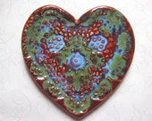 Love This Heart Pottery Doily Spoon Rest