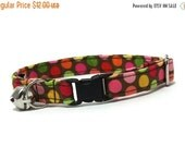 ON SALE Cat Collar- Pink...Brown...Dippin' Dots