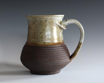 Pottery Coffee Mug, 16 oz, ceramic cup, handthrown mug, stoneware mug, pottery mug, unique coffee mug, ceramics and pottery