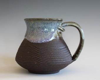 Unique Coffee Mug, 13 oz, handmade ceramic cup, handthrown mug, ceramic stoneware, pottery mug, ceramic coffee mug, ceramics and pottery