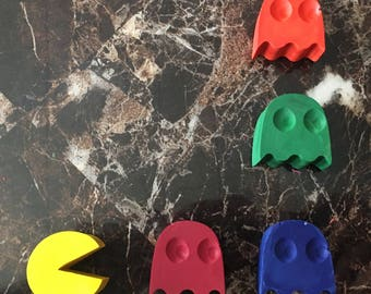 Inspired pac-man crayons