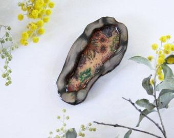 Yamba Rockpool Wearable Art Brooch by Winnifreds Daughter