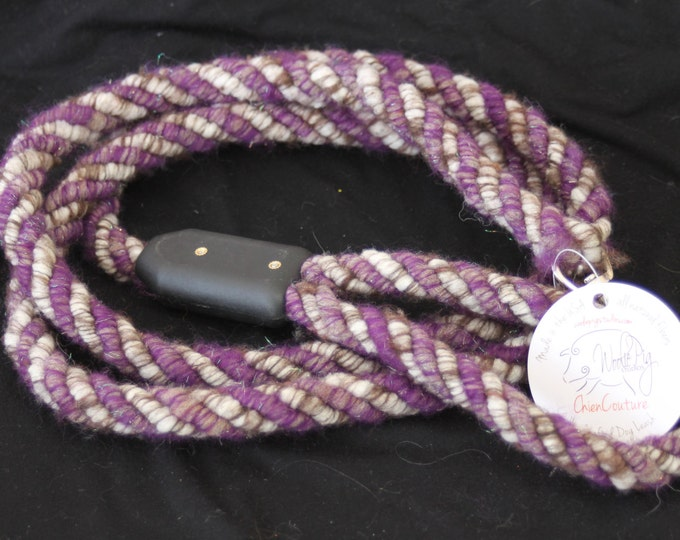Dog Leash- Handcrafted- Alpaca-Wool and other natural Fibers - DL-07