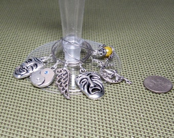 Thespian Wine Glass Charms