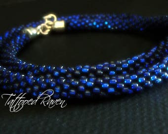 Kumihimo Blue Rope Necklace