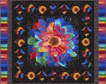 Radiance Flowers Quilt ePattern, 4993-1, floral wall quilt, wall quilt pattern, panel quilt pattern, digital download