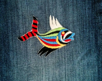 One Fish, Red, Yellow, Black, Green, White, Blue.... All In One Fish Patch