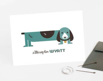 Kid's Personalized Stationery, Personalized Note Card Set, Baby Gift // PUPPY LOVE