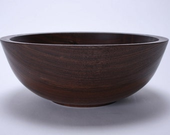 "Black Walnut Wooden Bowl #1529 10 3/4"" X 4"""