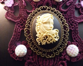 gothic Filigree Girl choker, Steampunk choker, Halloween gift, Day of the Dead, Dia de los Muertos, Gothic Victorian