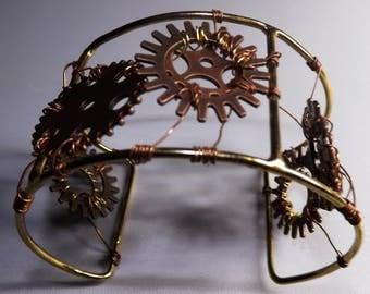 Steampunk cuff bracelet, Steampunk jewellery, cog cuff,woman cuff bracelet, steampunk cuff, Steampunk bracelet, cog bracelet