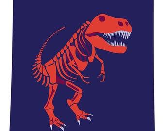 Tyrannosaurus Rex Bones, 8x10 Poster, Vector Illustration