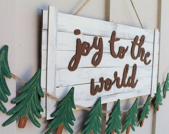Joy to the World Sign, Christmas Sign, Shiplap Inspired