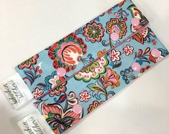 WIPminder - Blue & Pink Floral