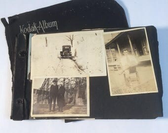 Photo Album 1920 Sepia Tone Photos Black and White Photos