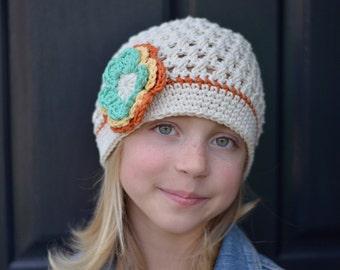 Crochet Hat, Crochet Little Girl Hat, Toddler Girl Hat, Crochet Beanie, Crochet Toddler Hat for Girls, Little Girl Hat, Winter Hat, Girl Hat
