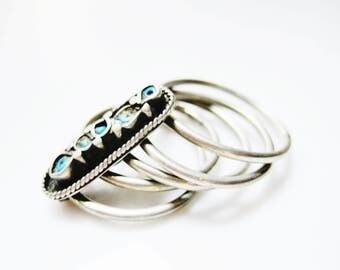 Ethnic Nomadic Woman Multi Band Ring, Nomad Jewelry