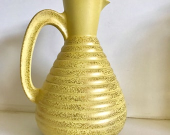 Mid Century Modern C. Miller Ceramic Pitcher Dated 1957