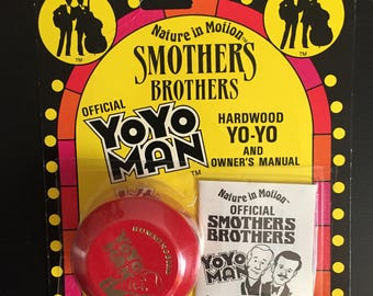 Vintage Authentic Smothers Brothers Autographed Yoyo 1988 NIP New Unopened Yoyo Man Signed