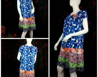 Plus size tee dress upcycled by Niknok