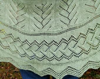 Plus Size Shawl Knit Pattern: Bonnybridge Plus Size and Regular Size Longwingspan Shawl Knitting Pattern