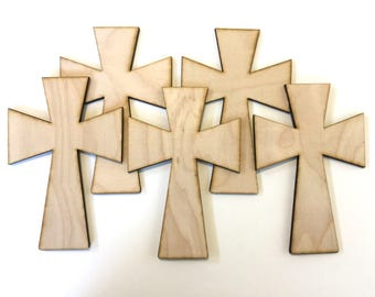 Unfinished Wood  Crosses, wood cross, Easter supplies, Easter craft supplies, Religious crafts, Holiday Craft supplies, wood ornament,